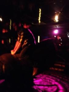 Seconds before I was thrown off the bull
